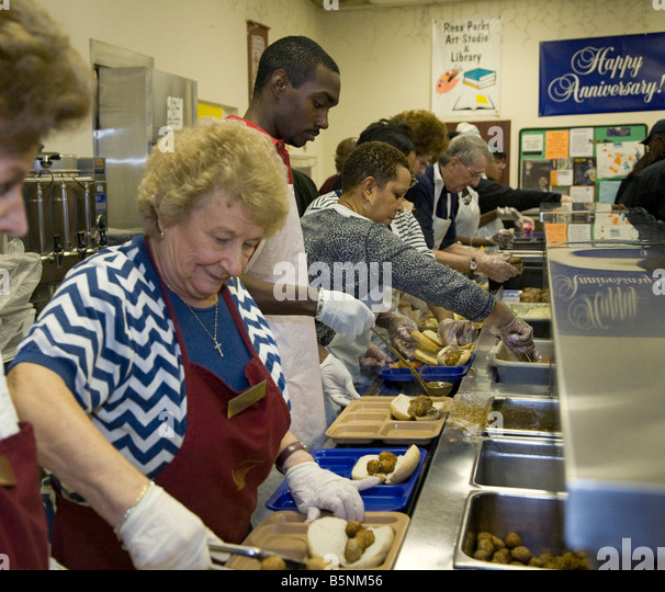 Soup Kitchen Charity Stock Photos & Soup Kitchen Charity