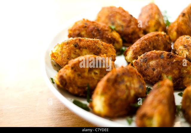 Portuguese cod fish cakes - Stock Image