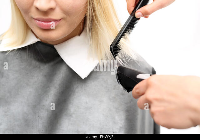 hairstylist cutting stock photos hairstylist cutting stock images alamy. Black Bedroom Furniture Sets. Home Design Ideas