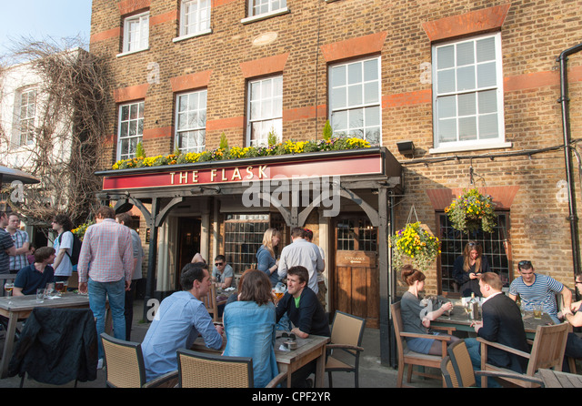 The flask highgate london stock photos the flask - Village beer garden port chester ...