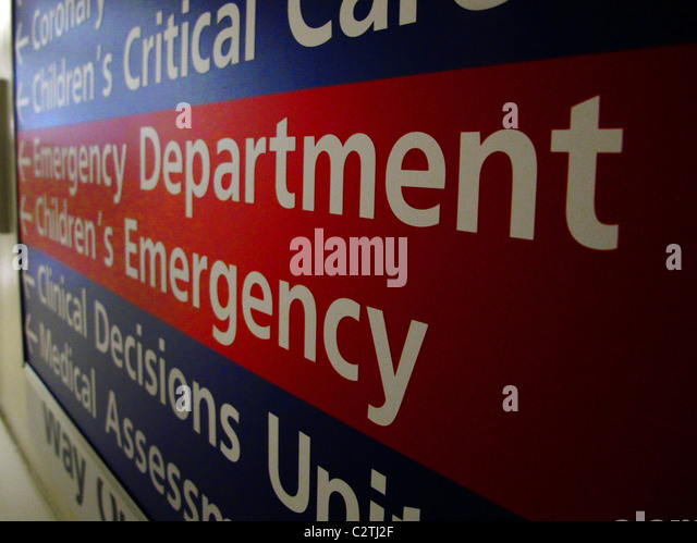 Emergency department sign stock photos emergency department sign english hospital emergency department sign stock image sciox Image collections