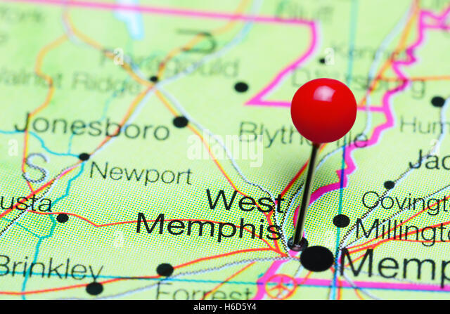 Memphis Pinned On Map Usa Stock Photos Memphis Pinned On Map Usa - Usa map memphis