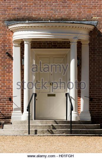 Close-up of semi-circular steps up to grand front door with pillars and & Porch Pillars Stock Photos \u0026 Porch Pillars Stock Images - Alamy Pezcame.Com