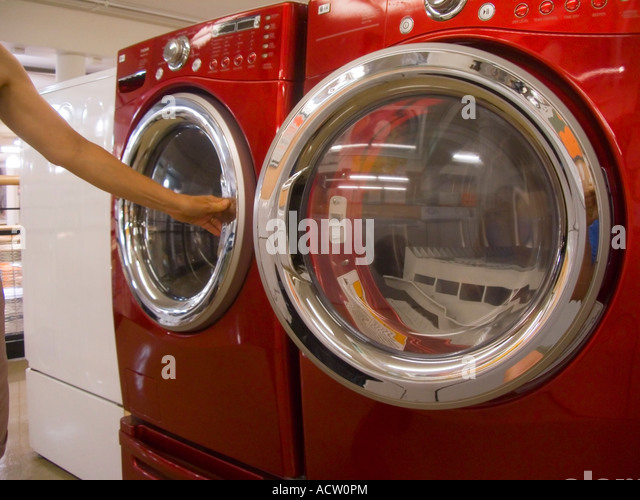 Washer Dryer Red Stock Photos Washer Dryer Red Stock Images Alamy