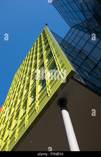 google london offices central st. Brightly Colored Office Blocks At Central St Giles London Where Google Has Its Offices - Stock O