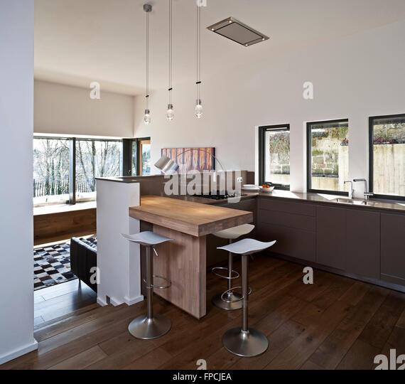 Open Plan Kitchen Living Area Stock Photos & Open Plan