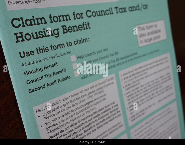 Housing Benefit Form Stock Photos  Housing Benefit Form Stock