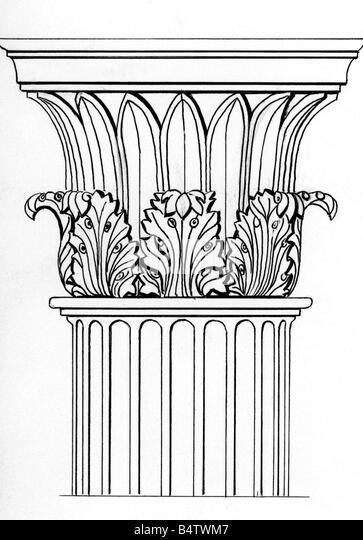 Corinthian Column Drawing Www Pixshark Com Images