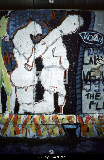 Political art stock photos political art stock images for Berlin wall mural