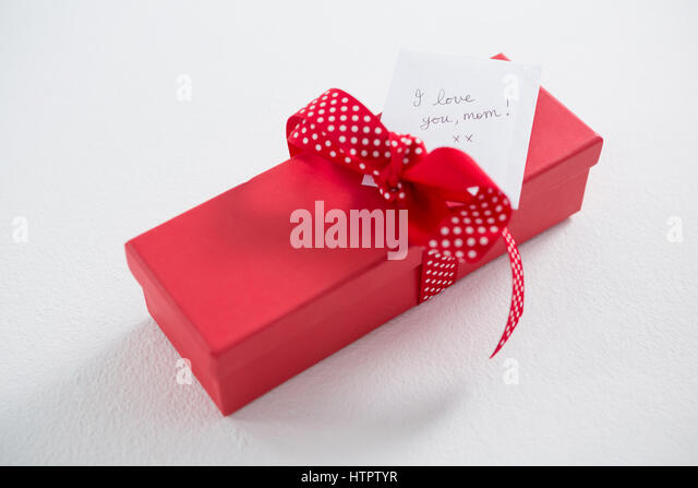 I love u stock photos i love u stock images alamy close up of gift box with i love u mom text on white background negle Image collections