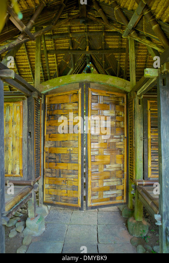 Bamboo Door In A House In Ubud, Bali, Indonesia   Stock Image