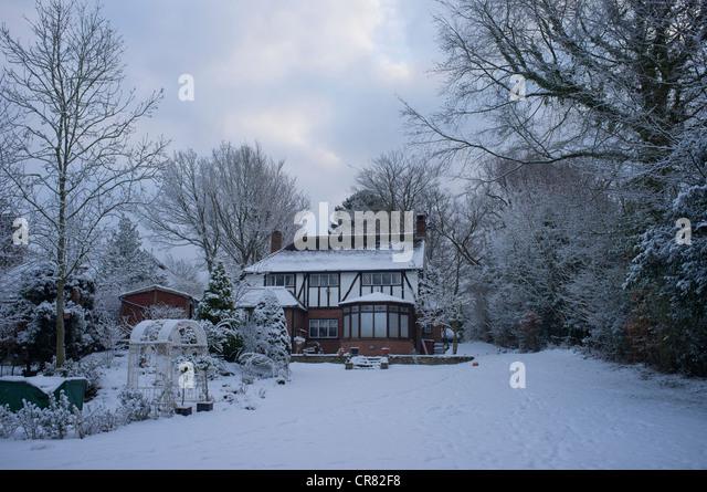Country Cottage Winter Stock Photos Country Cottage