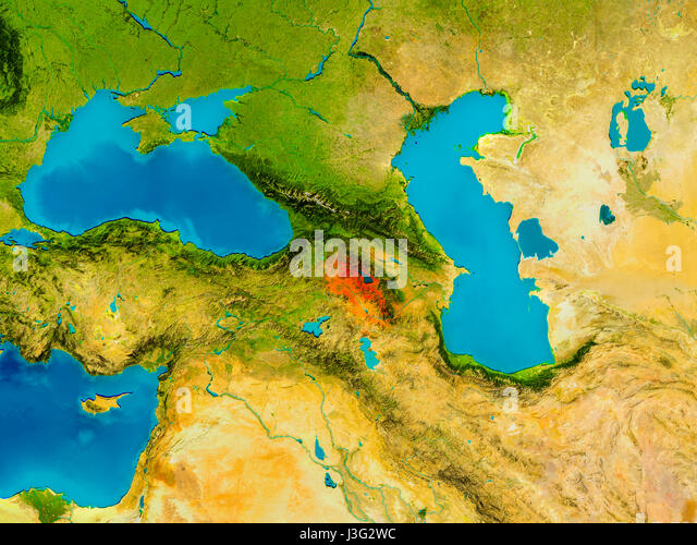 Map Satellite Geography Armenia Stock Photos Map Satellite - Armenia physical map