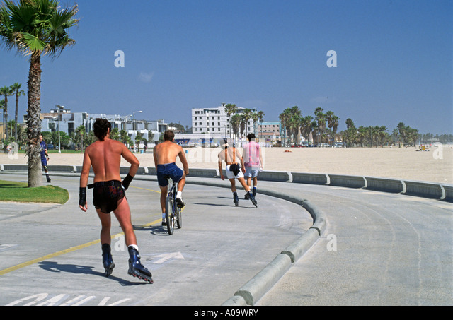 Venice Beach Roller Blading Stock Photos Venice Beach Roller