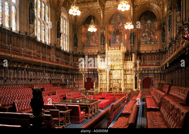 Attractive The Lords Chamber House Of Lords Houses Of Parliament Westminster London  England United Kingdom Europe   Part 7