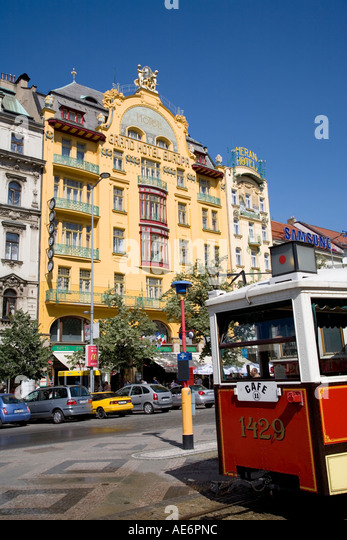 Tramvaj stock photos tramvaj stock images alamy for Hotel europa prague