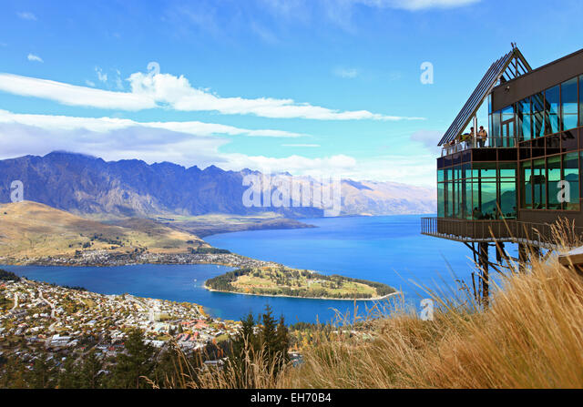 Aerial view queenstown new zealand stock photos aerial for 70 panorama terrace queenstown
