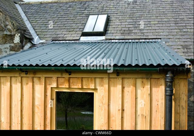 Galvanised Roof Amp Looking Across The Blue Galvanised Sheet