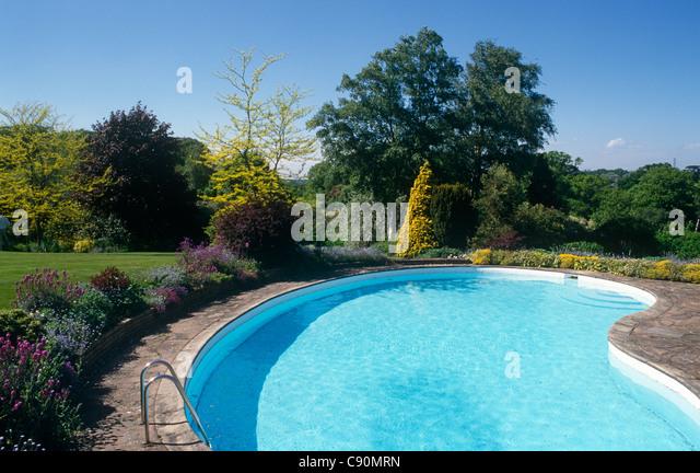Swimming Pool Outside England Stock Photos Swimming Pool