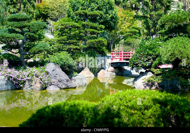 Wooden garden arch stock photos wooden garden arch stock for Traditional japanese garden