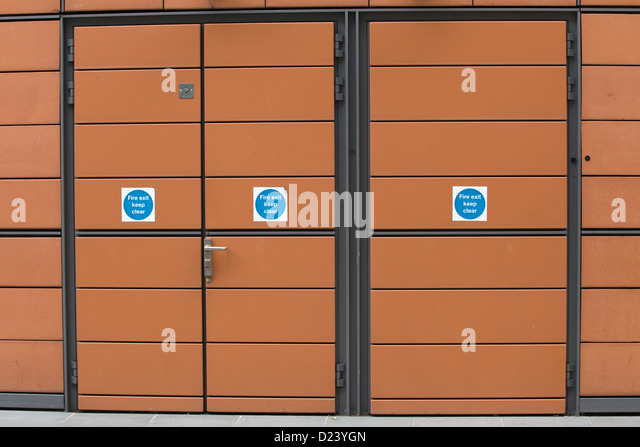 External Fire exit doors - Stock Image