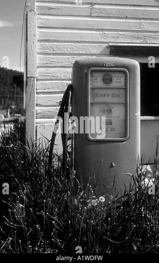 Wooden petrol pump stock photos