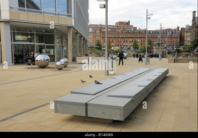 City Centre Street Furniture   Stock Image