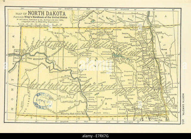 Map Of North Dakota Stock Photos Map Of North Dakota Stock - North dakota on the us map