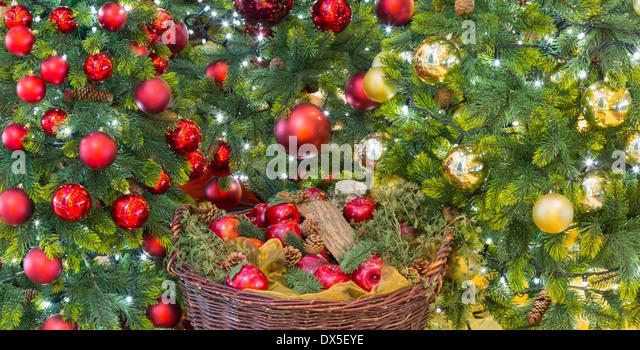 Christmas decorations tree sh01 stock photos christmas for Apple tree decoration