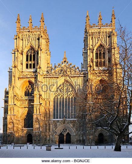 York minster snow stock photos york minster snow stock for West window york minster