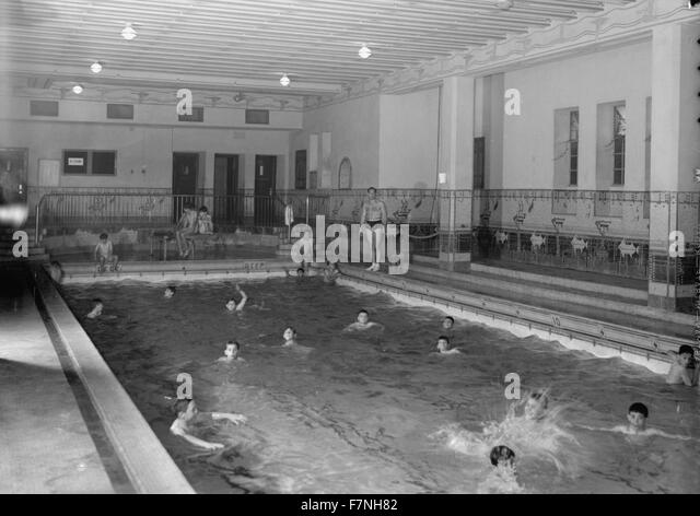 School photograph black and white stock photos images alamy for United township high school swimming pool