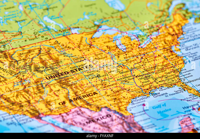 United States Of America Map Stock Photos United States Of - World map of the united states of america