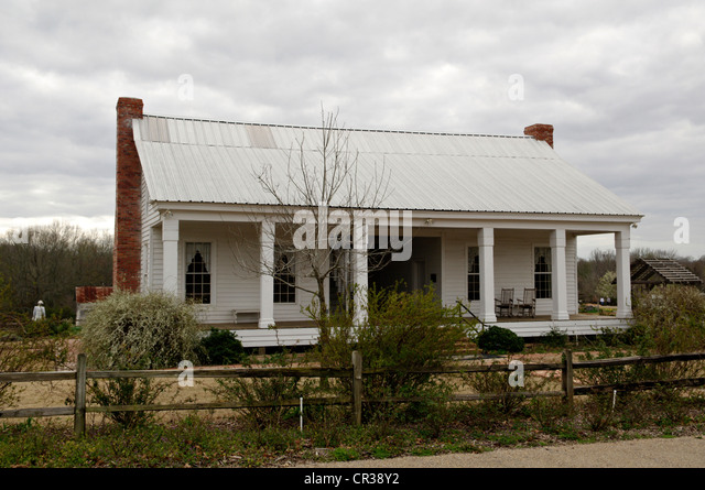A early east Texas farmhouse from around the 1870's after being restored  and in use as