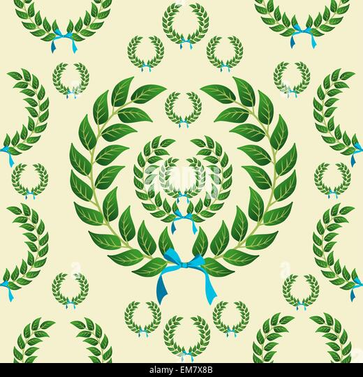 Olive wreath crown stock photos olive wreath crown stock for Laurel leaf crown template
