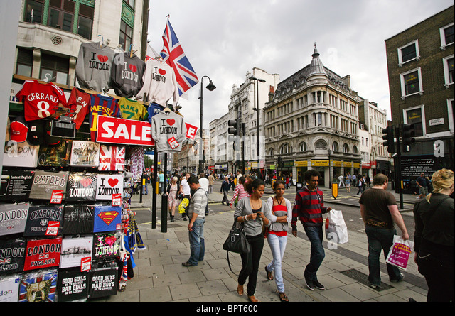 London Shopping Street Stock Photos & London Shopping ...