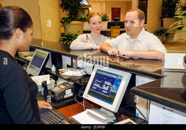 Little Rock Arkansas The Peabody Hotel Lobby Black Woman Women Man Couple Work Job