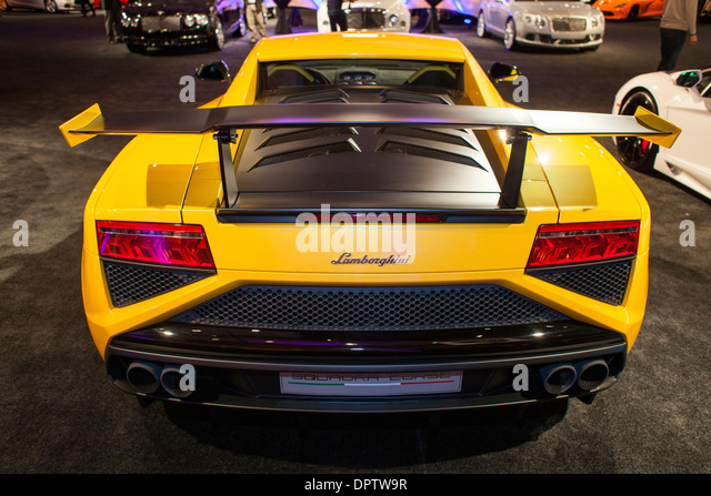 The Lamborghini Gallardo In A Display Of Luxury Cars During The North  American International Auto Show