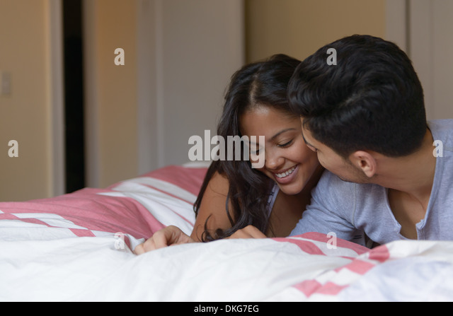 kissing couples romantic in bed young couple kissing bed stock photos young couple 336