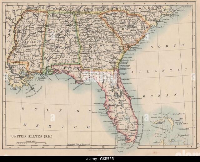 Vintage Map South Georgia South Stock Photos Vintage Map South