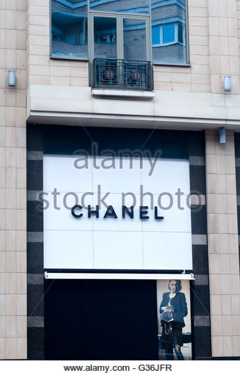 Chanel shop window display stock photos chanel shop for French house of high fashion