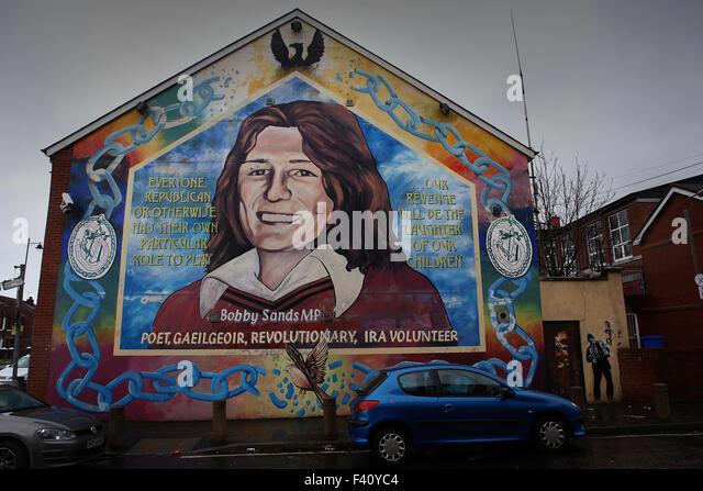 Sinn fein mural stock photos sinn fein mural stock for Bobby sands mural belfast