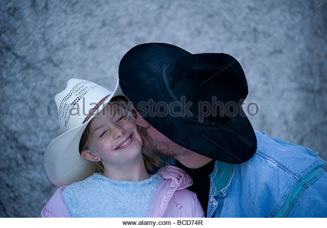 Cowgirl and her father