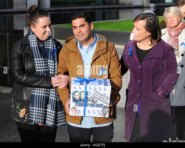 Shadow Welsh Secretary Jo Stevens Arrives At The Home Office In London With Bashir Naderi And