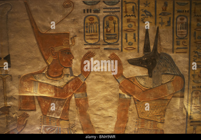 Egyptian hieroglyphics ramses tomb stock photos egyptian for Ancient egyptian tomb decoration