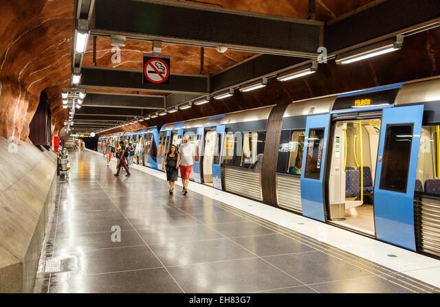 Stockholm Metro Sweden Stock Photos & Stockholm Metro Sweden Stock ...