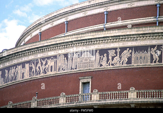 Royal Albert Hall, London   View Of Domed Roof And Frieze C.2000