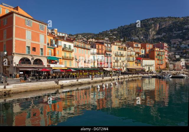 the port villefranche sur mer alpes maritimes stock photos