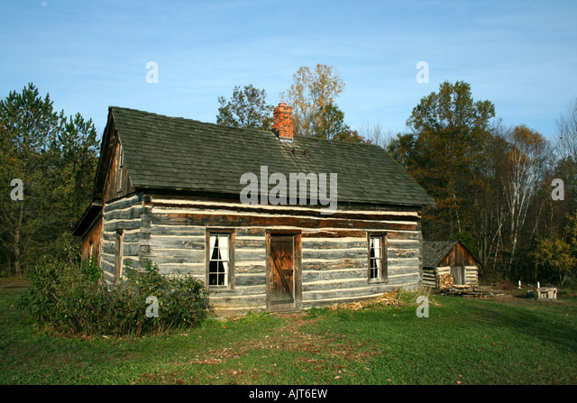 Pioneers Old Log House Stock Photos Pioneers Old Log