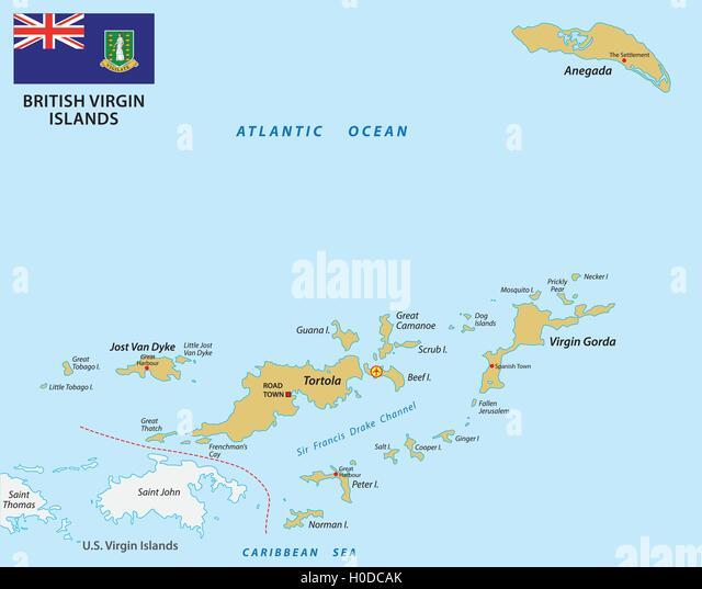 British Virgin Islands Map Stock Photos British Virgin Islands - British virgin islands map