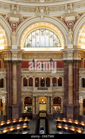 Library Of Congress Main Reading Room Statues